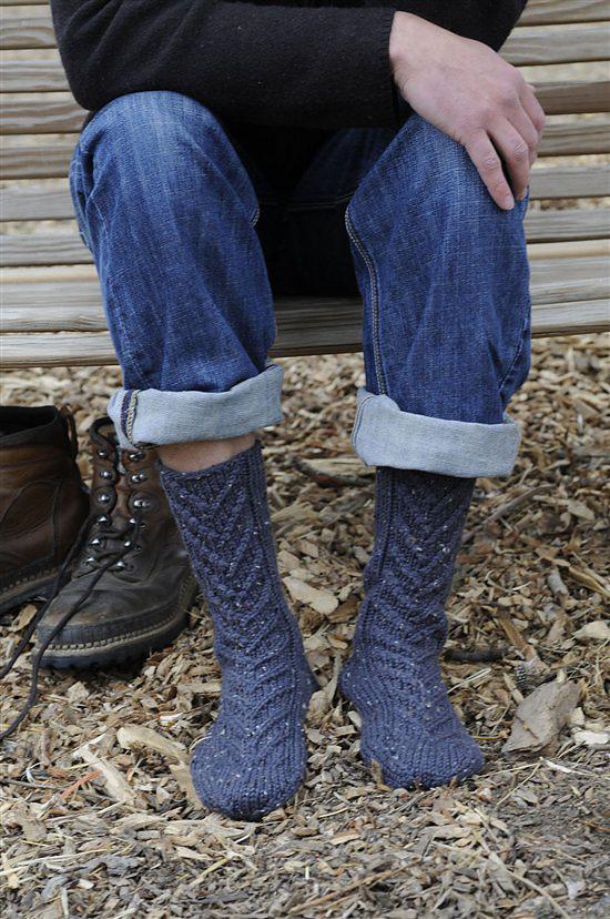 Braided slipper socks