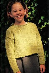 School girl pullover