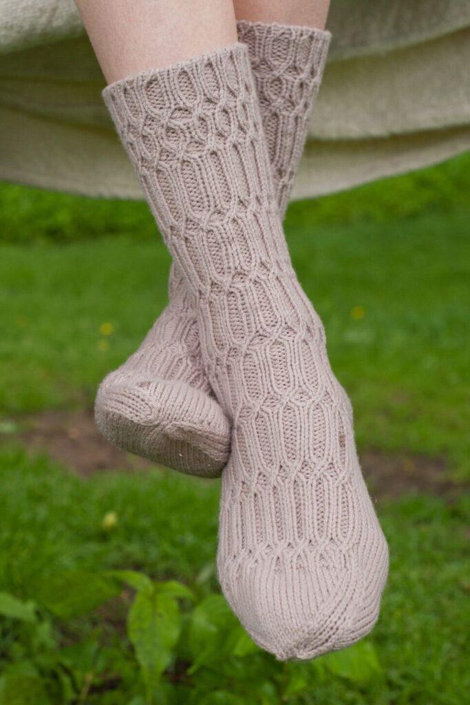 Cross-Rib Socks