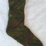 Smokey ZickZacks--A Finished Sock!