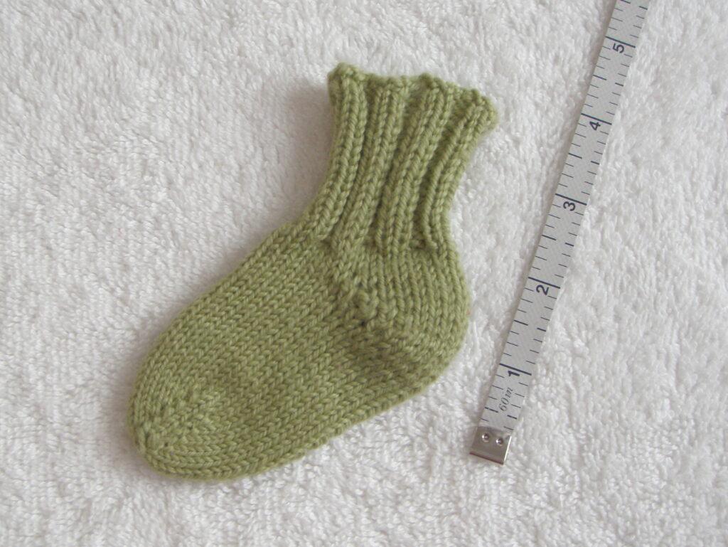 Toe up sock short row